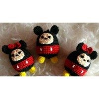Baru boneka rajut tsum tsum mickey mouse mini mouse