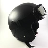 Helm Bogo Pilot Kulit / Retro / Brimob   Kacamata Snail