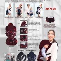 Gendongan topi bayi - Hiprest baby carrier with hat Kiddy