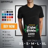 Kaos Polos WINCLOTH 2200 v neck Katun Bambu 30 S Murah S M L XL