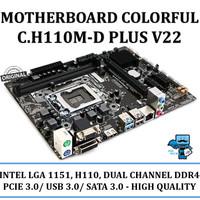 Motherboard Colorful C.H110M-D PLUS V22 (LGA1151, H110, DDR4)