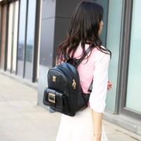 Tas Punggung Import Fashion Korea Hitam Motif Unik Ransel Online