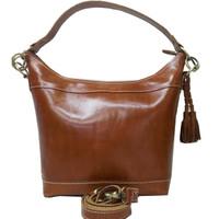 [L] Tas jinjing Wanita Kulit Sapi Asli coklat selempang sling bag hobo