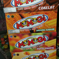 Momogi cokelat. jagung bakar. keju. tutti frutti