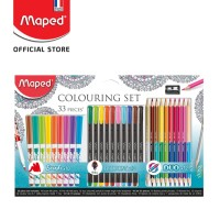 Maped Pensil Warna Graph Peps Coloring - 33 Pieces