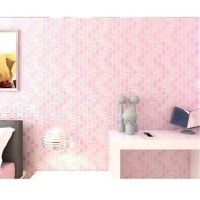 Wallpaper 3D Non Woven Embossed Mosaic Ephedra Plain - Pink 90086