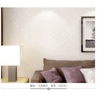 Wallpaper 3D Non Woven Embossed Mosaic Ephedra Plain - White 90081