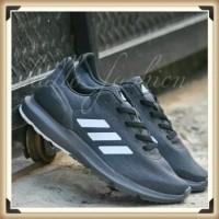 Sepatu Running Adidas Cosmic II Dark Grey Outsole Black Original BNWB