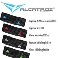Paket Keyboard mouse xplorer 5500 powerlogic (Alcatroz)