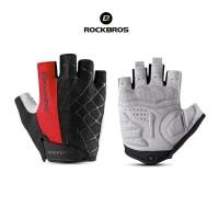 ROCKBROS S109 Bike Glove Half Finger - Sarung Tangan Sepeda RED