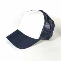 TOPI TRUCKER / JARING POLOS WARNA BASEBALL CAP HAT CASUAL SPORT