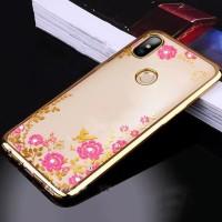 SILICON FLOWER XIAOMI MI A2/ LITE/ REDMI 6A CASING SOFT CASE COVER