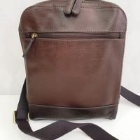 Tas Fossil Rory Man Bag Brown Leather Original