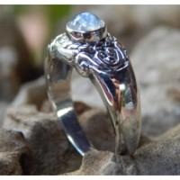 Gagang cincin perak ukir Bali tanpa Batu
