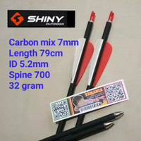 Arrow Anak Panah Carbon Mix 7mm Spine 700 SHINY