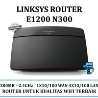 Router Cisco Linksys Wireless Router E1200 N300 - High Quality 300Mbps