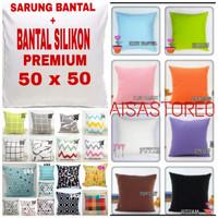 SARUNG BANTAL + BANTAL KURSI dan SOFA 50x50