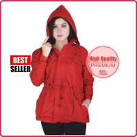 BEST! JAKET PARKA CASUAL WANITA MERAH CATENZO | HIGH QUALITY