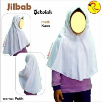 Jilbab Instan serut Putih