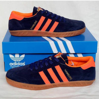 Adidas Hamburg Navy Orange (2)