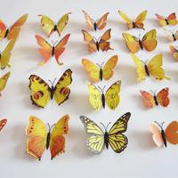 Hiasan kupu - kupu 3D Wall sticker Pin kupu-kupu 3D - KHM076