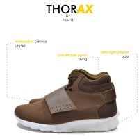 THORAX BROWN HIGH SNEAKERS