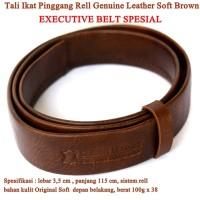 Ikat pinggang Tali Leather Executive Soft coklat