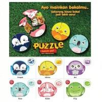 technoplast puzzle lunch box new design - kotak makan bekal puzzle