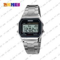 Jam Tangan Pria Digital SKMEI 1123 Silver Water Resistant 30M