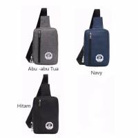 Bodypack Bag Tas Selempang pri men sling Shoulder bag A3284 abu abu