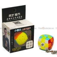 Rubik Qiyi 3x3 Keychain 3.0mm 3x3 Stickerless
