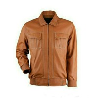 jaket kulit warna tan kamsay