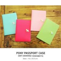Korean Pony Passport Cover Cover Paspor Sampul Passport Paspor
