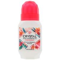 Crystal Body Deodorant, Mineral Deodorant Roll-On, PoPomegranate 66ml