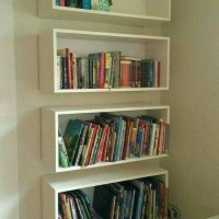 Rak melayang floating shelves frame rak buku