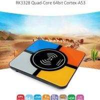Android box Wireless charging4gb+32G S10 RK3328 Quad Core Smart TV Box