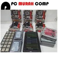 Paket Rakitan Motherboard LGA 775 DDR3 G41 Merk BIOSTAR SERAGAM