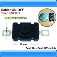 Saklar Push ON/OFF KAN 1812 untuk Senter Kepala/Flashlight CREE