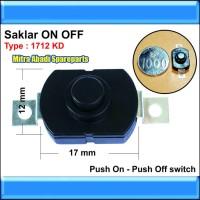 Saklar Push ON/OFF 1712 KD untuk Senter Kepala/Flashlight CREE