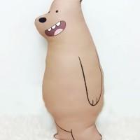 Boneka We Bare Bear Size Large (50 cm) - Grizzly Full Body