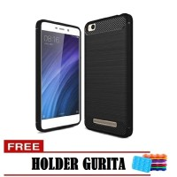 Case Ipaky Carbon Fiber For   Xiaomi Redmi 5A- Free Holder Gurita