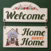 Hiasan Dinding 'Welcome Home Sweet Home'