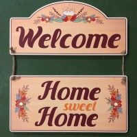 Pajangan Kayu 'Welcome Home Sweet Home'