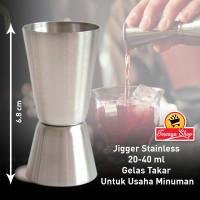 Jigger Stainless 20-40ml - Gelas Takar