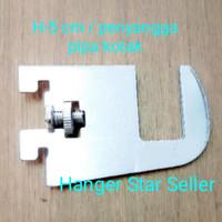 H-5 cm / Daun Breket /penyangga pipa kotak