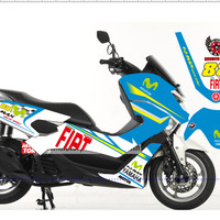 DECAL MALL YAMAHA NMAX MOVISTAR SIAP PRINT FORMAT CORELDRAW