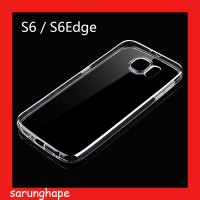 Clear Soft Case Casing Transparan Samsung Galaxy S6 Edge G925
