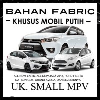 COVER MOBIL KHUSUS PUTIH UKURAN SMALL MPV JAZZ , YARIS , FORD FIESTA