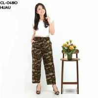 Celana kulot army loreng tentara panjang motif cewek wanita kekinian