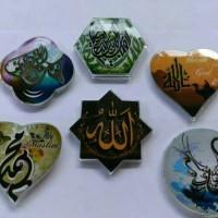 souvenir pernikahan tempelan kulkas kaligrafi